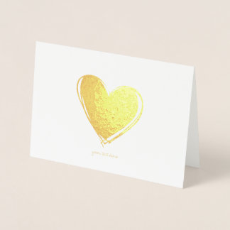 Etched Gold Foil Heart Greeting Cards