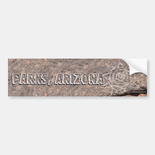 Etched Lava Rock Photograph Bumper Sticker