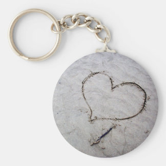 Etched Love Key Chain