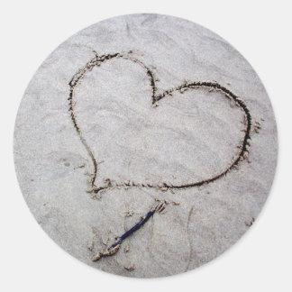 Etched Love Round Sticker