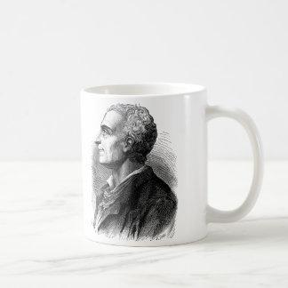 Etched Portrait of Montesquieu by Emile Bayard Basic White Mug
