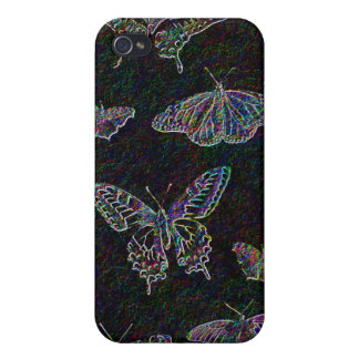 Etched Rainbow Butterflies iphone 4 case
