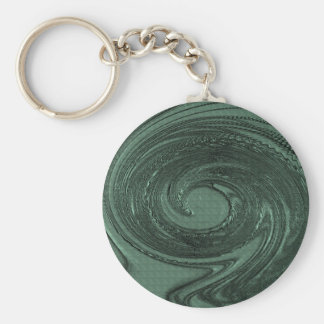 Etched Swirls in Teal Key Chains