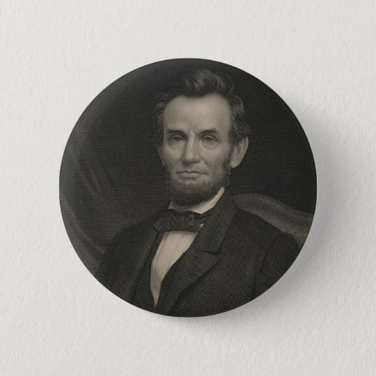 Etching Portrait of Abraham Lincoln 6 Cm Round Badge