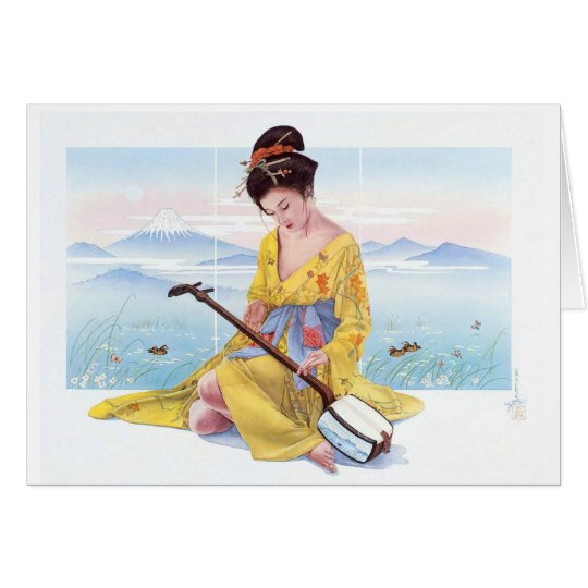 ETERNAL BEAUTY, JAPANESE GEISHA CARD