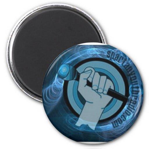 Eternal Blue Gyre 6 Cm Round Magnet