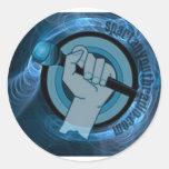 Eternal Blue Gyre Round Stickers