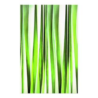 Eternal Evergreen Stripy Pattern Customised Stationery