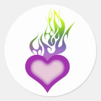 Eternal Flame Round Sticker