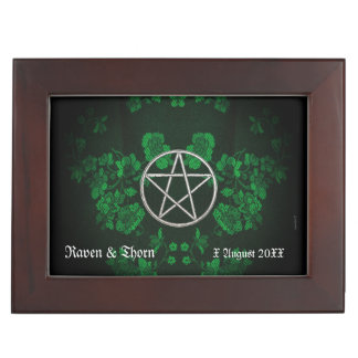 Eternal Handfasting Pentacle Grn. Handfasting Cord Keepsake Box