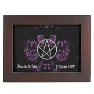 Eternal Handfasting Pentacle Lav. Handfasting Cord Keepsake Box