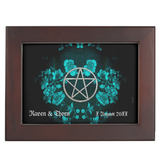 Eternal Handfasting Pentacle Turq Handfasting Cord Keepsake Box