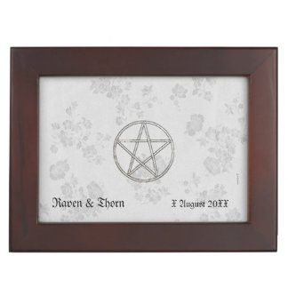 Eternal Handfasting Pentacle Wht. Handfasting Cord Keepsake Box