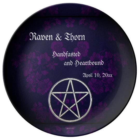 Eternal Handfasting/Wedding Pentacle Purple Suite Plate