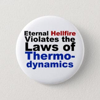 Eternal Hellfire Violates Thermodynamics 6 Cm Round Badge