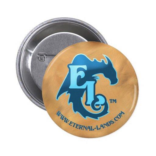 Eternal Lands Logo button, blue