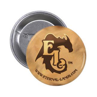 Eternal Lands Logo button, brown