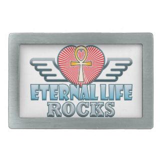 Eternal Life Rocks Rectangular Belt Buckle