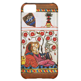 ETERNAL LOVE MONOGRAM parchment Cover For iPhone 5C