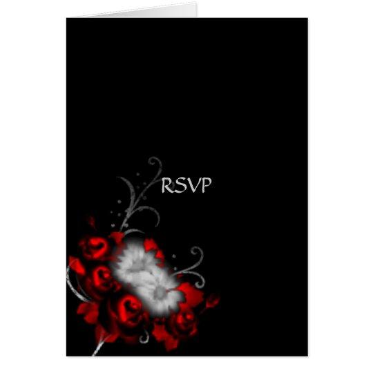 Eternal Memories Gothic Wedding RSVP Card