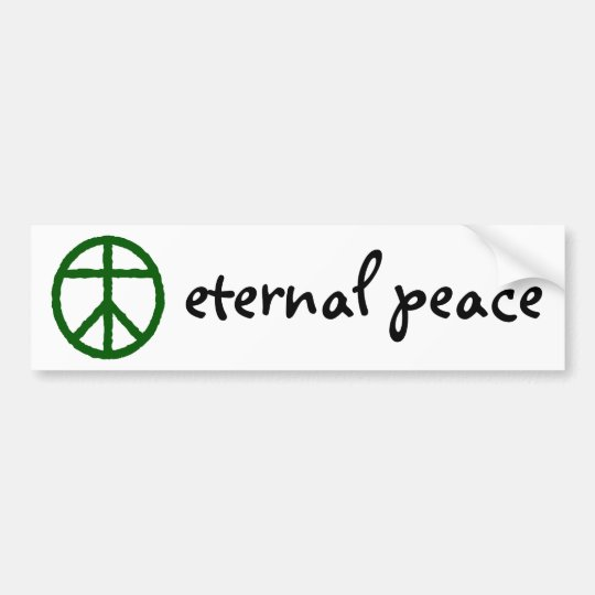 Eternal Peace Bumper Sticker