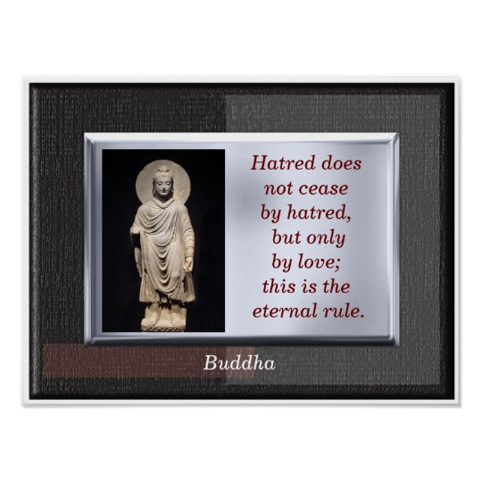 Eternal Rule - Buddha quote - art print