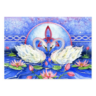 Eternal Swans Large Business Cards (Pack Of 100)