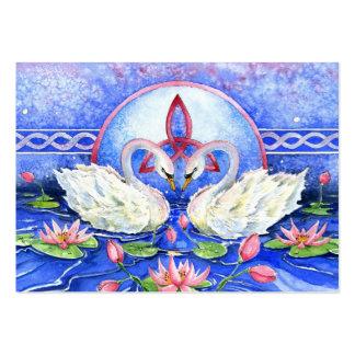 Eternal Swans Business Card Template
