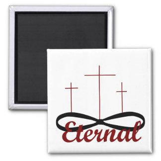 Eternal three crosses magnet