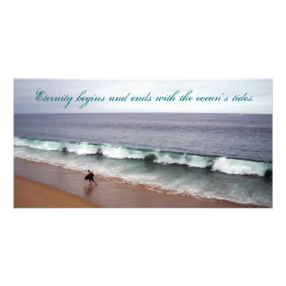 Eternity Beach Personalized Photo Card