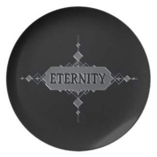 Eternity concept. party plates
