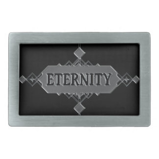 Eternity concept. rectangular belt buckle