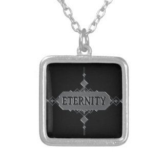 Eternity concept. silver plated necklace
