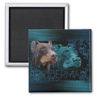 Eternity - Doberman Square Magnet