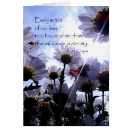 Eternity Quote Daisy Floral Card