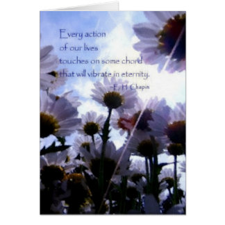 Eternity Quote Daisy Floral Note Card