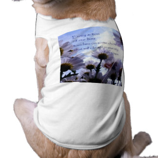 Eternity Quote Daisy Floral Sleeveless Dog Shirt