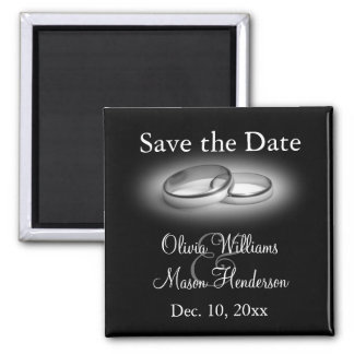 Eternity Save the Date Magnet (black)