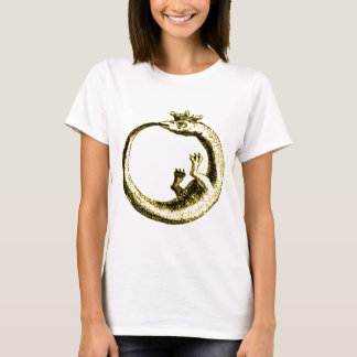 ETERNITY SERPENT VINTAGE PRINT IN SEPIA TONE T-Shirt