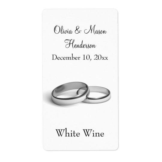 Eternity Wedding Wine Label (white)