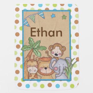 Ethan's Jungle Blanket Receiving Blankets