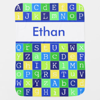 Ethan's Personalized Blanket Receiving Blankets