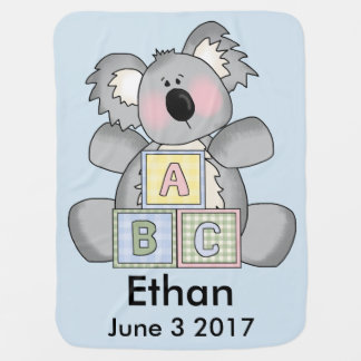 Ethan's Personalized Koala Baby Blanket