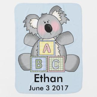 Ethan's Personalized Koala Pramblankets