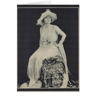Ethel Clayton 1923 vintage portrait Greeting Card