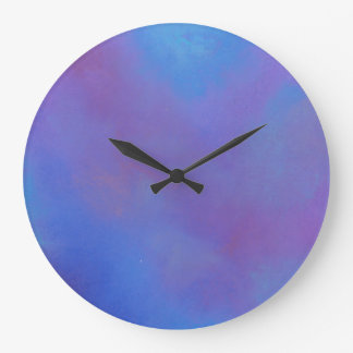 Ethereal Blue Abstract Large Clock