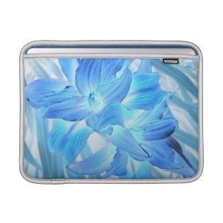 Ethereal Blue Lily, Winter Floral Fantasy 13 Inch MacBook Sleeve