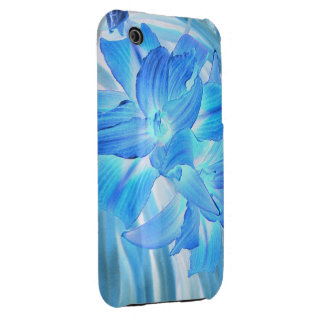 Ethereal Blue Lily, Winter Floral Fantasy iPhone 3 Case