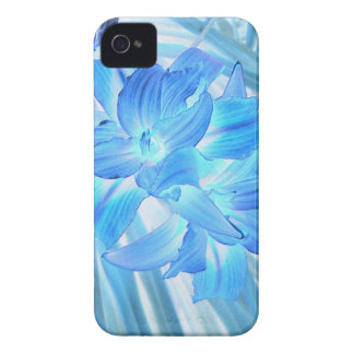 Ethereal Blue Lily, Winter Floral Fantasy iPhone 4 Case-Mate Cases