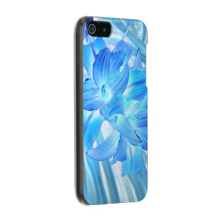 Ethereal Blue Lily, Winter Floral Fantasy Incipio Feather® Shine iPhone 5 Case